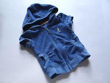 JUICY COUTURE Süße blaue Kurzarm Frotteejacke Hoodie Gr.2/92
