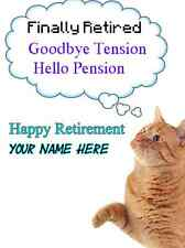 Cat Happy Retirement A5 Greeting Card PIDcat1 bubble thoughts card mum friends