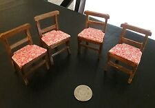 Vintage wood kitchen chairs dollhouse furniture minitures