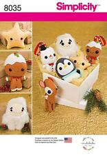 SIMPLICITY SEWING PATTERN STUFF ANIMALS CHRISTMAS ORNAMENTS STAR SNOWMAN  8035