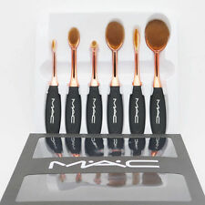 Mac makeup brush Toothbrush shape set Rose gold color 6pcs
