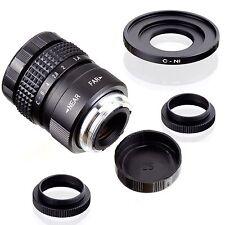 25mm f/1.4 CCTV C 1/2 Lens for Nikon 1 mount N1 camera J1 J2 J3 V1 V2 S1 + Macro