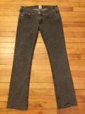 "True Religion Gray Denim ""Johnny Big T"" Boot Cut Jeans; Size 30"