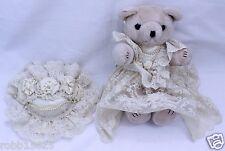"""Vintage Wedding Bride Bear Teddy, 13"""" Collectibles Bridal"""