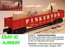 LIONEL ANIMATED 16674 & 16712 PINKERTON, 26972 PONY EXPRESS 16705 C&O COP / HOBO