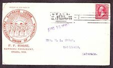 Supreme Lodge Faternal Union of America Insurance Advertising Cover (-196)