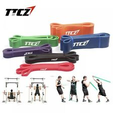Set of 5 POWER Heavy Duty RESISTANCE BAND Gym Yoga LOOP Exercise Fitness Workout