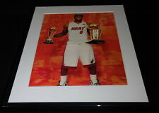 Lebron James w/ trophies Framed 11x14 Photo Display Miami Heat B