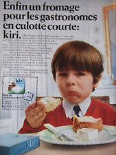 PUBLICITÉ 1968 KIRI UN FROMAGE POUR GASTRONOME EN CULOTTE COURTE - ADVERTISING