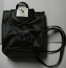 Mickey Mouse Backpack by Honey Fashions LTD, Black W/Embroidered Mickey, New