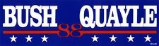 1988 Campaign George BUSH Dan QUAYLE 88 Bumper Sticker (5167)
