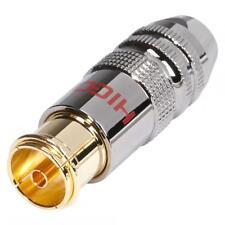 Hicon HI-ANCF01 plaqué or Isolant PTFE de Sommercable prise d'antenne