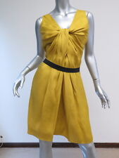 Lanvin Ete 2009 Knot-Front Dress with Attached Elastic Belt Marigold Size 42