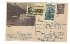1954 Romania Uprated View Postal Card to South Africa