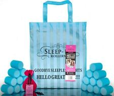 Sleep In Rollers TURQUOISE BLUE Gift Set in Box - 20 Rollers, Bag, Clips