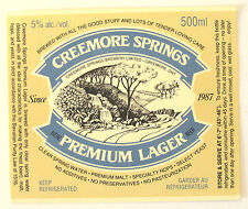 Creemore Srings Brewery PREMIUM LAGER beer label CANADA 500ml