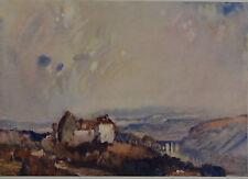 A Scotch Landscape by S. J. Lamorna Birch. Color Plate. The Studio, 1915.
