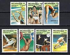 JO été Nicaragua (59) série complète de 7 timbres oblitérés