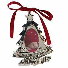 Baby`s 1st Christmas Tree Ornament Photo Frame NEW  24486