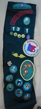 Vintage Girl Scout Sash WITH Badges and Pins 1972 1973 1974 1975 1976