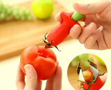 Fruit Easy Cutter Corer Remover Strawberry Stem Leaves Huller Kitchen Tools New