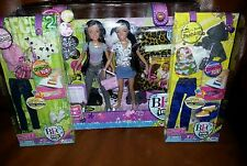 BFC Ink Best Friends Dolls Aleisha & Noelle Twins & 2 BFC Outfits Small Dolls