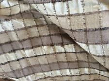 Raw silk fabric.  Brown / Beige  cream material Sewing craft.  Further reduction