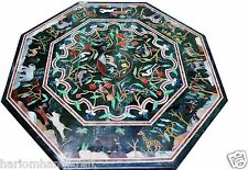 "Size 24""x24"" Marble Coffee Table Top Grand Pietradure Animals Inlaid Work H1628"