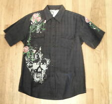 NWT SOHO Clothing Co. New York, Black Graphic, Short Sleeve Shirt, Sz M (SS-19)