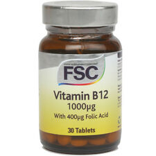 FSC Vitamin B12 1000ug + Folic Acid 400ug 30 Tablets *BUY 1 GET 1 FREE*