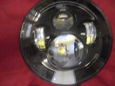 "7080 Series 7"" Round Led Hi/Low Black Bezel  Projector Headlight Jeep Wrangler"