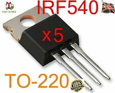 5 Lots  IRF540 IRF540N TO-220  N-Channel Power MOSFET UK STOCK