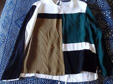 ZARA WOMAN LIMITED EDITION TOP COLOR BLOCK size XS