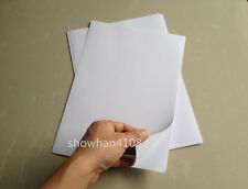 10 Sheets A4 White Glossy Self Adhesive Sticker Photographic Photo Printer Paper