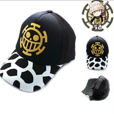 Anime One Piece Trafalgar Law Skull Hat Cosplay Hats Baseball Cap Snapback Gift