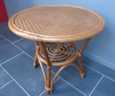 TABLE BASSE BAMBOU ROTIN DESIGN SCANDINAVE VINTAGE 50 60 MODERNISTE / N°3