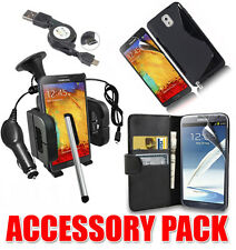 7 X Accessory Bundle Kit per Samsung Nota 3 + Custodia cover Car Holder Caricabatterie