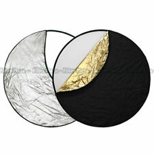 "60cm 24"" 5-in-1 Studio Light Multi Collapsible Photo Reflector Board Panels Disc"