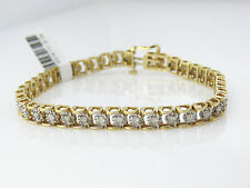 NYJEWEL 14k Solid Gold Brand New Captivating Tennis Diamond Bracelet $2300