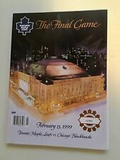 Toronto Maple Leafs Gardens last game program 1999