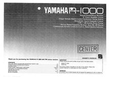 Yamaha R-1000 Receiver Owners Manual