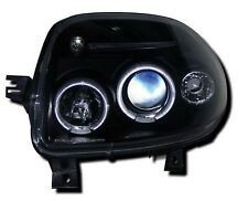 Black Angel Eye Projector Headlights Renault Clio Mk2 98-01/Campus 05 Onwards