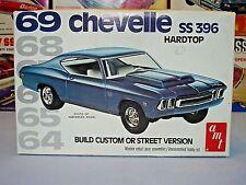 """AMT 1969 CHEVROLET CHEVELLE SS396 H.T. """"COUNTDOWN"""" #2212 MPC UNBUILT MODEL KIT"""