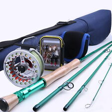 8WT Fly Rod And Reel Combo 7/8WT Pre-spooled Fly Reel & Fly Box & Flies