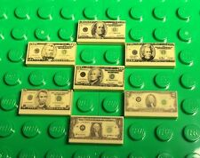 Lego New Money US Dollar Banknotes $1,2,5,10,20,50,100 Pattern ~3D Machine Print