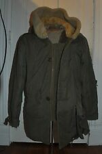 WWII Army AAF B-11 Bomber Pilot Flight Flying Parka Uniform 40 Fur