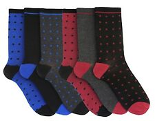 Tom Franks 6 Pairs of Mens Patterned Suit Socks 7-11