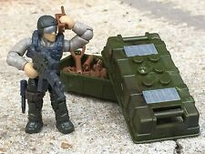 Gray Heavy Assault  Army Special Forces Machine Gunner Minifigure (#2)