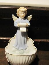 Porcelain angel wall pocket