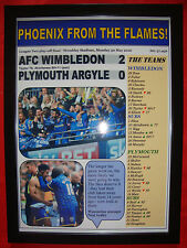 AFC Wimbledon 2 Plymouth 0 - 2016 League Two play-off final - framed print